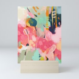 spring moon earth garden Mini Art Print