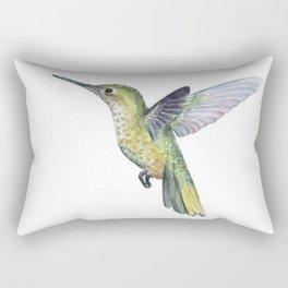 Hummingbird Watercolor Bird Animal Rectangular Pillow