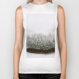 Evergreen Forest in Snow (Color) Biker Tank