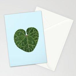 Cyclamen leaf - light blue Stationery Cards