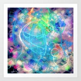 Neon Abstract Design 2 Art Print