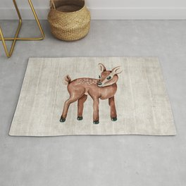 Little Fawn, Baby Deer, Forest Animals, Woodland Nursery, Baby Animals Rug
