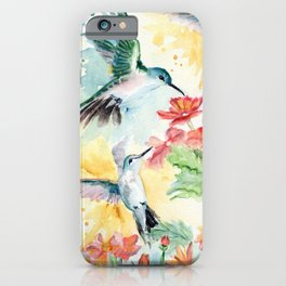 Hummingbird Party iPhone Case