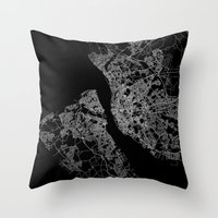 liverpool Throw Pillows featuring Liverpool by Line Line Lines