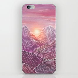 Lines in the mountains 02 iPhone Skin