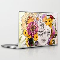 flora Laptop & iPad Skins featuring Flora by Jenndalyn