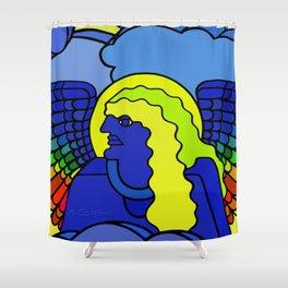 GALGALIEL the blue angel of vibrations Shower Curtain