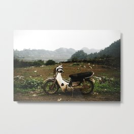 Old mud motorbike Metal Print