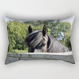 Look me in the eyes Rectangular Pillow