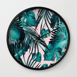 Tropical Jungle Leaves Dream #10 #tropical #decor #art #society6 Wall Clock