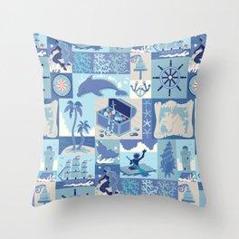 Captain Cook's Secret Voyage Throw Pillow