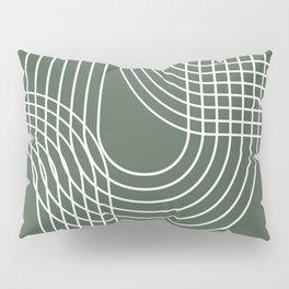 Minimalist Lines & Forest Green BG Pillow Sham