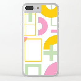 80s Memphis 03 Clear iPhone Case