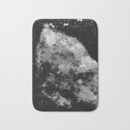 """Cellular Migration"" (Black & White - Dark) Digital Painting // Fine Art Print Bath Mat"
