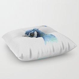 Peacock Watercolor Exotic Bird Animals Floor Pillow