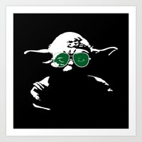 yoda Art Prints featuring Yoda by eARTh