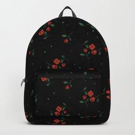 Red roses black Backpack