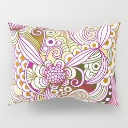 Flower fire | yellow, purple, green and ocre Pillow Sham
