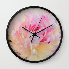 Joy of a Peony by Teresa Thompson Wall Clock