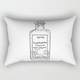 Antique Medical Bottle Rectangular Pillow