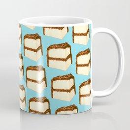 Chocolate Cake Slice Pattern - Blue Coffee Mug