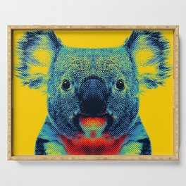 Koala Yellow Animal Serving Tray
