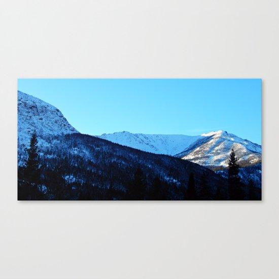 White Peaks Canvas Print