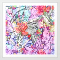 Rose buds and daydreams Art Print