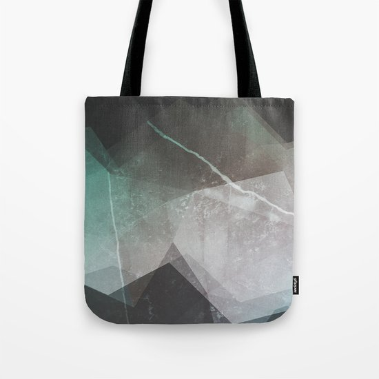 Marble Teal Layers Tote Bag