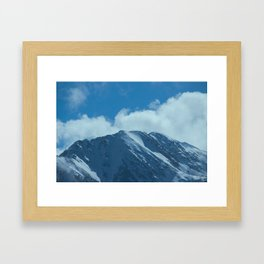 Fair-Weather Mountain Framed Art Print