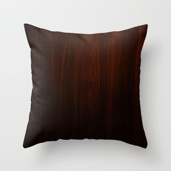Wooden case Throw Pillow