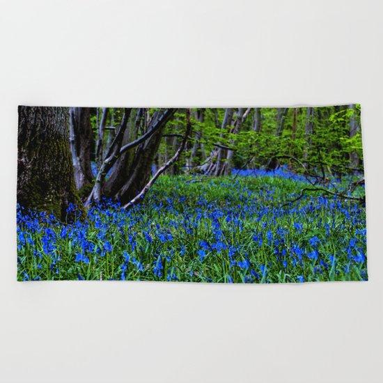 BLUE GLADE Beach Towel
