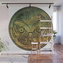 Pounamu 10c tiki Wall Mural