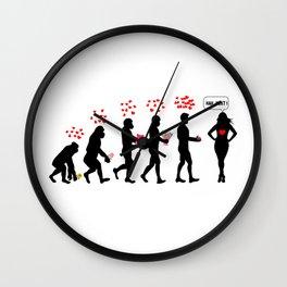 Human Evolution Love Story Wall Clock