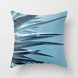 Palm Rays - Duotone Black and Teal Throw Pillow