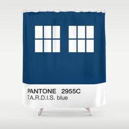 TARDIS Blue Pantone Shower Curtain