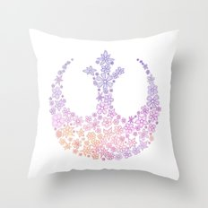 Star Wars Rebel Alliance Flowers Throw Pillow
