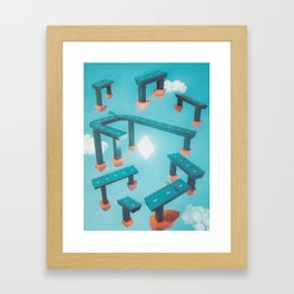 Bridge Over Untroubled Skies - 02 Framed Art Print