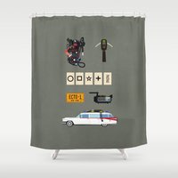 ghostbusters Shower Curtains featuring Ghostbusters v.2 by avoid peril