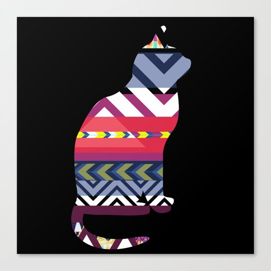 Tribal Feline Canvas Print