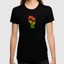 Bolivian Flag on a Raised Clenched Fist T-shirt