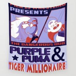 Purple Puma & Tiger Millionaire! Wall Tapestry