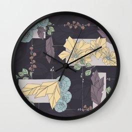 Flower Fracas Puple Wall Clock