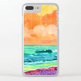 Simple Seascape IX Clear iPhone Case
