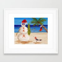 sandman Framed Art Prints featuring Christmas Sandman by Vivid Perceptions