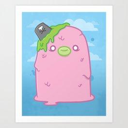 Pink Sewage Paul : Creepy but Cute Monster Series Art Print