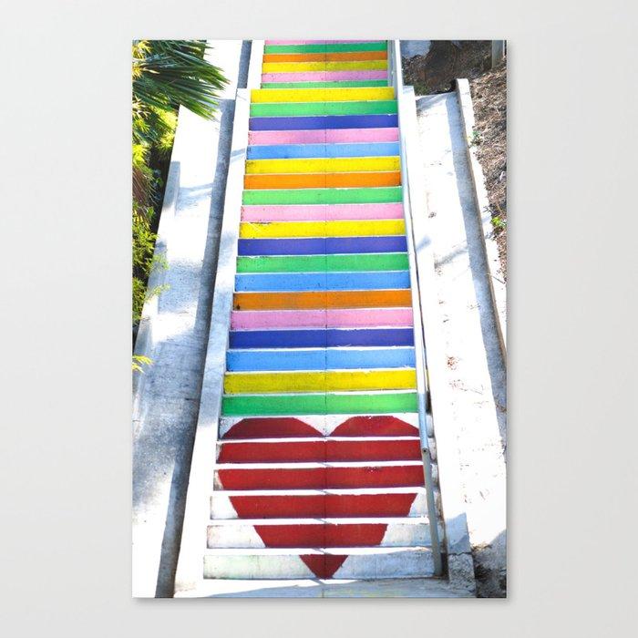 Micheltorena Stairs Canvas Print