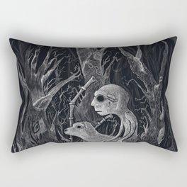 Mute the Dog Engraving Rectangular Pillow