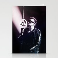 u2 Stationery Cards featuring U2 / Bono 4 by JR van Kampen