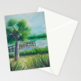 Dusk on the River MM160216h Stationery Cards
